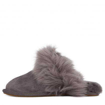 Charcoal Scuff Sis Slippers