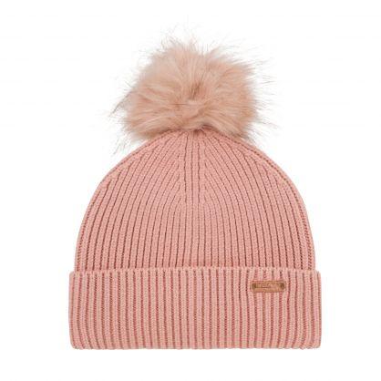 Pink Mallory Pom Beanie Hat