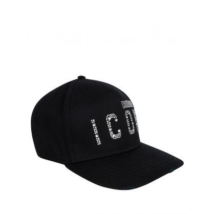 Black Diamante ICON Cap