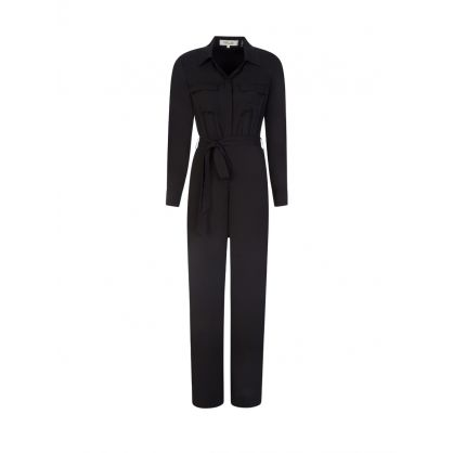 Black Sterling Silk Jumpsuit