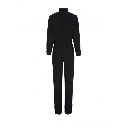 Black Workwear Jumpsuit