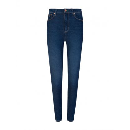 Tommy Hilfiger Blue Sylvia Ultra High-Rise Super Skinny Jeans