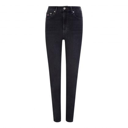 Black Melany Ultra High Rise Super Skinny Jeans