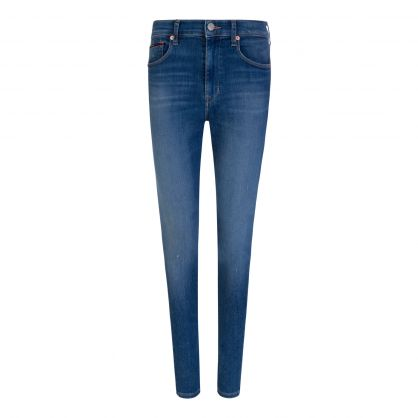 Sylvia Blue High Rise Super Skinny Jeans