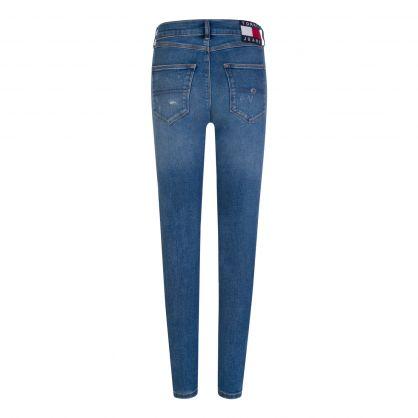 Blue High-Rise Super-Skinny Sylvia Jeans