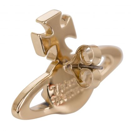 Gold Mayfair Bas Relief Earrings