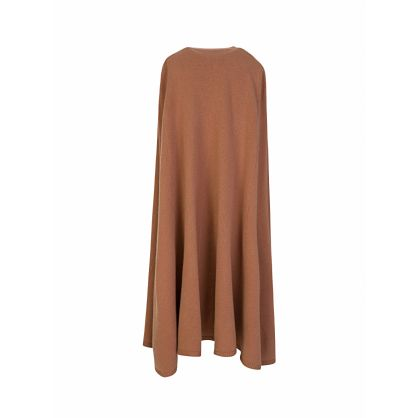 Brown Soft Wool Knit Cape