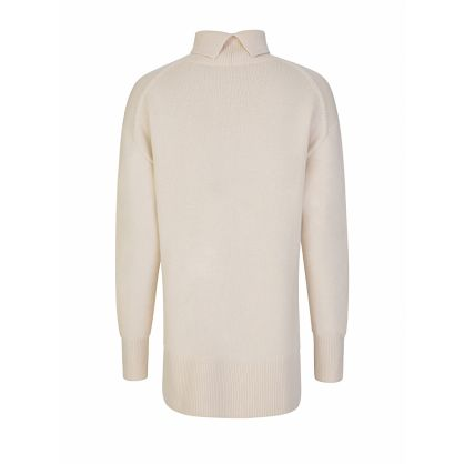 Ivory Soft Wool High-Neck Jumper