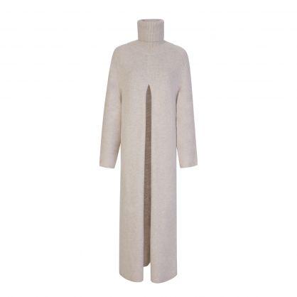 Beige O'Size Knit Viviane Dress
