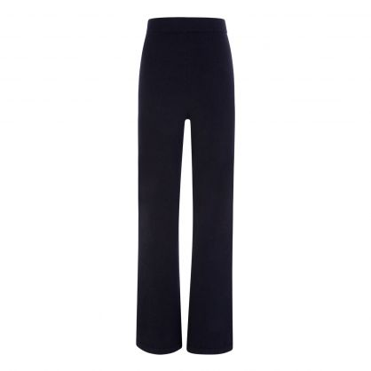 Indigo Pants/A-Cosy Wool Cashmere Trousers