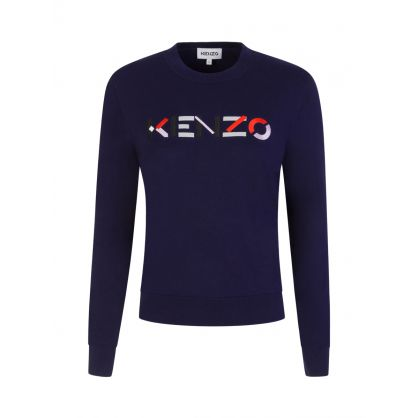 Navy Multicolour Logo Jumper