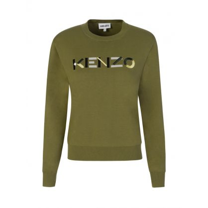 Green Multicoloured Logo Jumper
