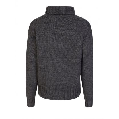 Grey Flag Knitted Jumper