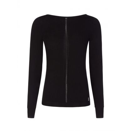 Black Boat-Neck Jumper