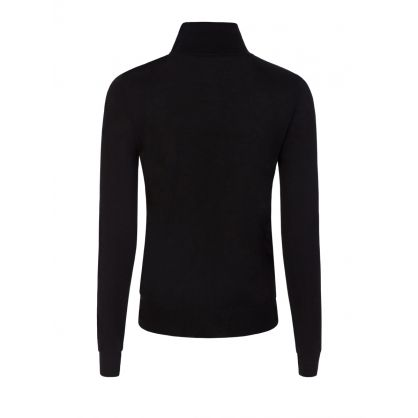 Black High Neck Knitted Jumper