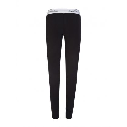 Black Logo Waistband Leggings