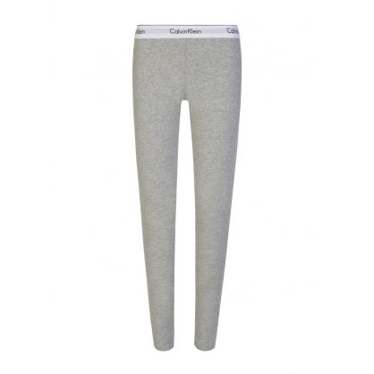 Grey Logo Waistband Leggings