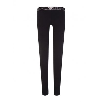 Black Logo Lounge Leggings