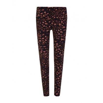 Black Red Textured Animal Luna Leggings