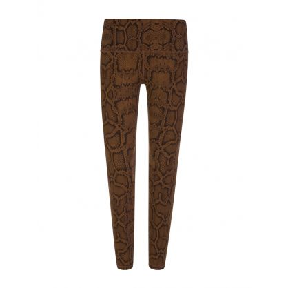 Brown Luna Snake Print Leggings