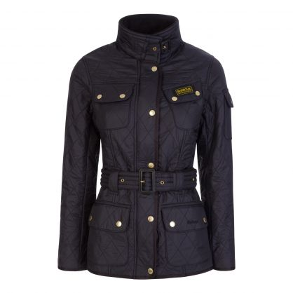 Black Polarquilt Jacket