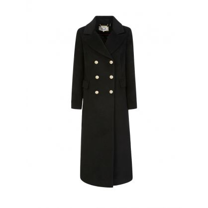Black Wool-Blend Lynnlee Maxi Coat