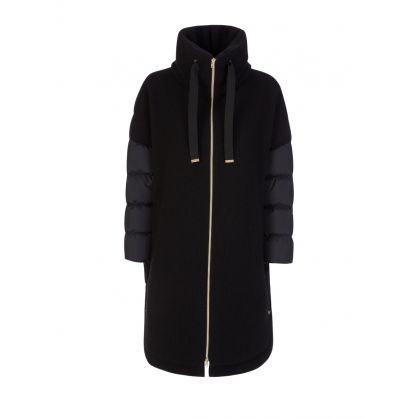 Black Knitted Half Coat