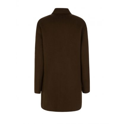 Green Clavel Double Face Cashmere Coat