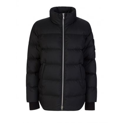 Black Replin Puffer Jacket
