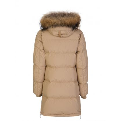 Beige Light Long Bear Parka Coat
