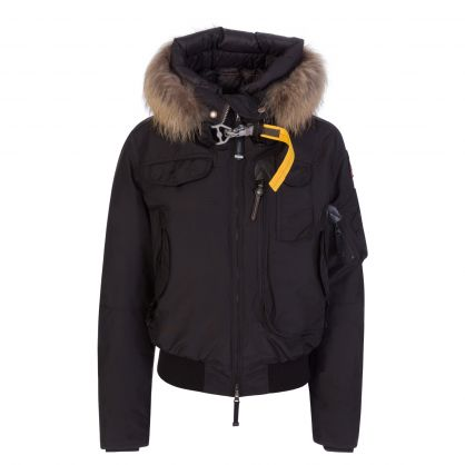Black Gobi Fur Jacket