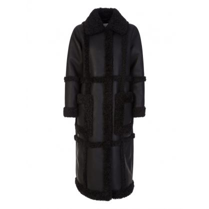 Black Patrice Faux Shearling Coat