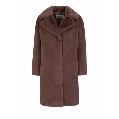 Purple Camille Cocoon Coat