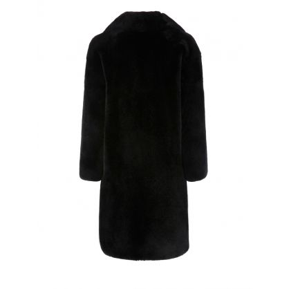 Black Faux Fur Camille Cocoon Coat