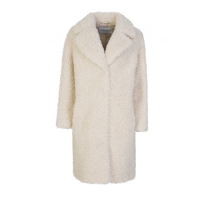 White Camille Cocoon Coat