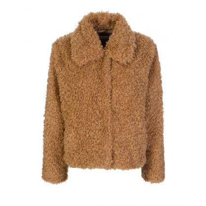 Brown Marcella Faux Fur Jacket