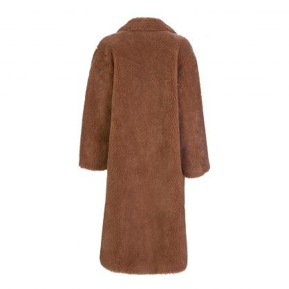 Sand Faux Fur Maria Teddy Coat