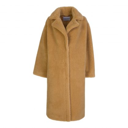 Honey Faux Fur Maria Teddy Coat