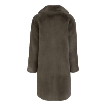 Green Faux Fur Camille Cocoon Coat