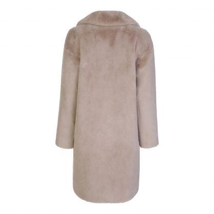 Ecru Faux Fur Camille Cocoon Coat