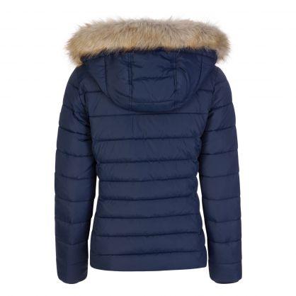 Tommy Hilfiger Navy Essential Hooded Jacket