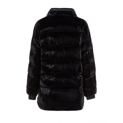Black Gloss Puffer Jacket