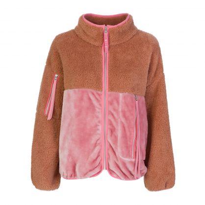 Brown/Pink Marlene Sherpa Jacket