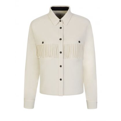 White Fringed Stag Overshirt