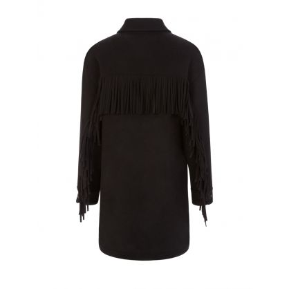 Black Fringed Alaskan Overshirt