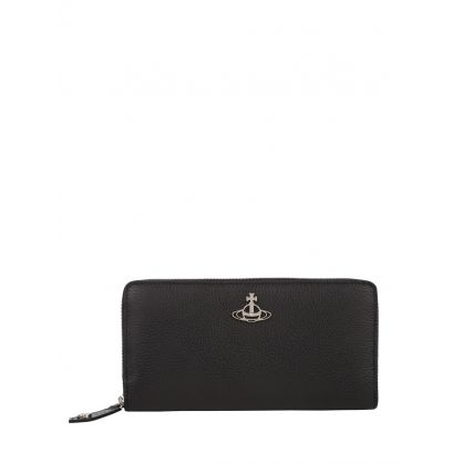 Black Jordan Zip Round Purse
