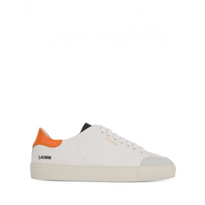 White/Orange Clean 90 Triple Trainers