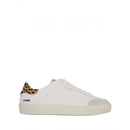 White Clean 90 Triple Leopard-Print Animal Trainers