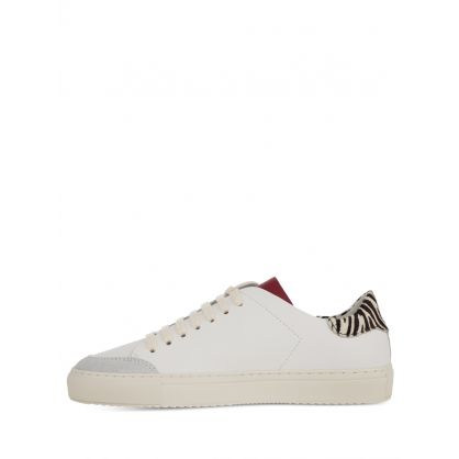 White Clean 90 Triple Animal-Print Trainers
