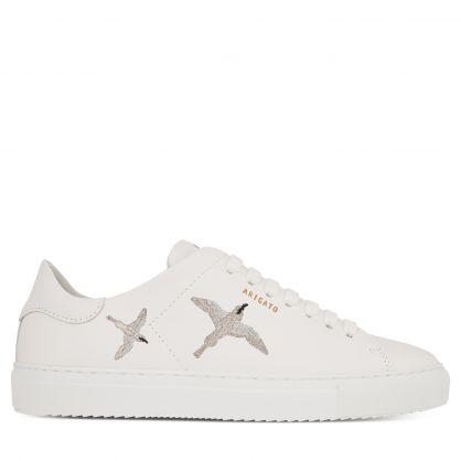 White/Silver Clean 90 Bird Trainers